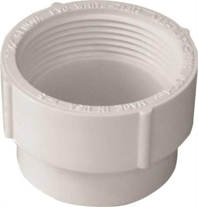 "PVC DWV, 4"", Cleanout Adapter"