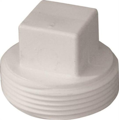 "PVC DWV, 4"", Threaded Plug, PVC"