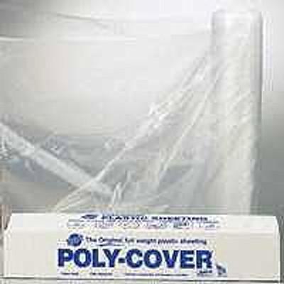 Plastic Sheeting, 4 Mil, 40' x 100', Clear