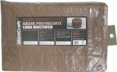 Tarpaulin,  8' x 10', Medium Duty, Brown