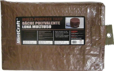Tarpaulin, 10' x 12', Medium Duty, Brown