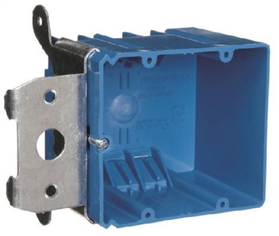 2 Gang Switch Box PVC Adjustable Depth