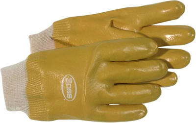 Gloves, PVC Lined Heavy Duty Lined Knit Wrist Glove, Large