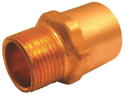 "Copper Fitting, 1"", CXM, Adapter x 3/4"" MPT"
