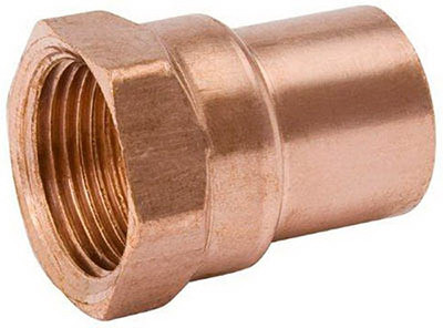 "Copper Fitting, 3/4"", CXF, Adapter x 1"" FPT"