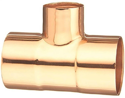 "Copper Fitting, 1"", CXC, Reducing Tee, x 1"" x 1/2"""
