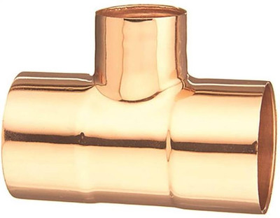 "Copper Fitting, 3/4"", CXC Reducing tee, x 3/4"" x 3/4"" x 1/2"""