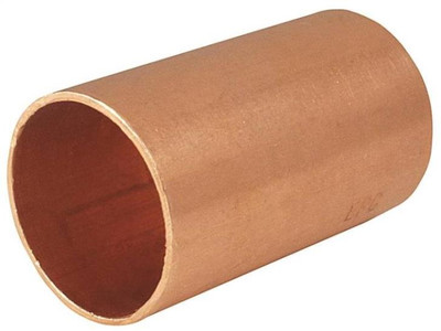"Copper Fitting, 1/2"", CXC, Coupling, Slip"