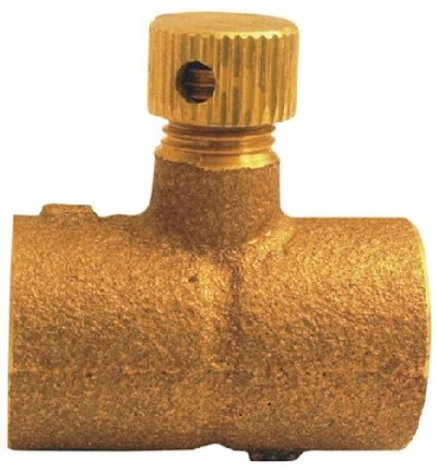 "Copper Fitting, 1/2"", CXC, Coupling With Drain"