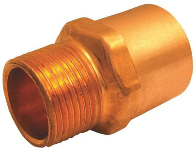 "Copper Fitting, 1"", CXF, Adapter x 3/4"" FPT"