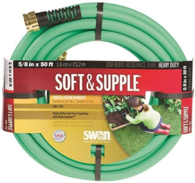 "Garden Hose, 5/8"" x  50', Soft & Supple"