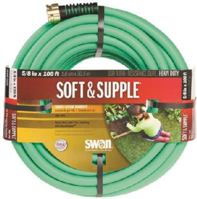"Garden Hose, 5/8"" x 100', Soft & Supple"