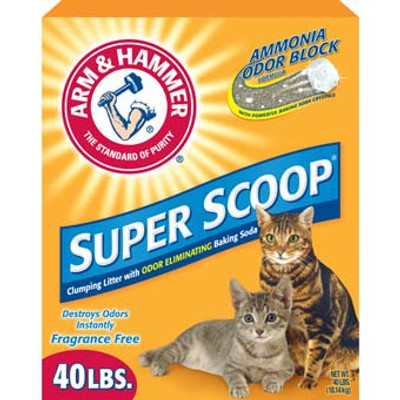 Arm & Hammer, Super Scoop Cat Litter, 40 Lb