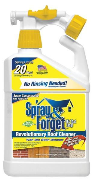 Spray & Forget Roof and Mildew Cleaner, Hose End Bottle Sprayer