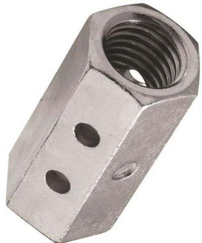 Coupling Nut, 3/4-10, Steel, Zinc Plated