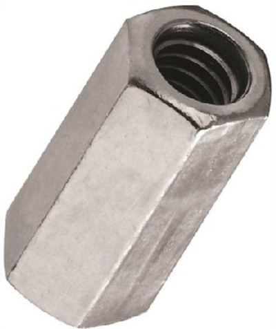 Coupling Nut, 5/16-18, Steel, Zinc Plated