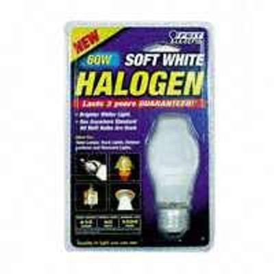 Halogen,  60 Watt, A19, Soft White