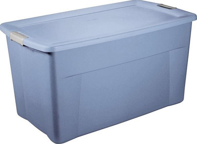 "Storage Tote, 35 Gallon, 32-1/2"" x 19-3/4"" x 18-5/8"""