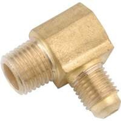 "Flare Fittings, 3/8"", Elbow, x 1/2"" MPT, Brass"