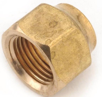 "Flare Fittings, 5/8"", Nut, Short Forged, Brass"