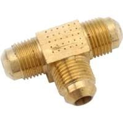 "Flare Fittings, 1/2"", Tee, Brass"