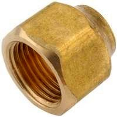 """Flare Fittings, 1/2"""", Nut, Short Forged, Brass"""