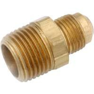 "Flare Fittings, 3/8"", Adapter x 1/2"" MPT, Brass"