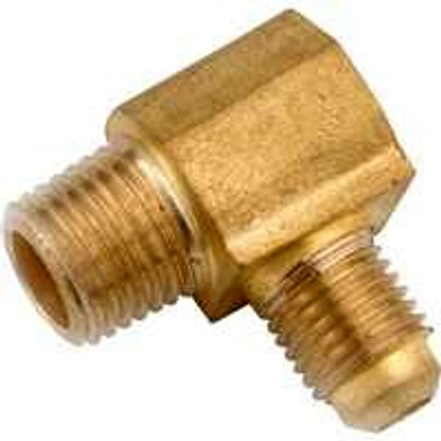 """Flare Fittings, 1/2"""", Elbow x 1/2"""" MPT, Brass"""