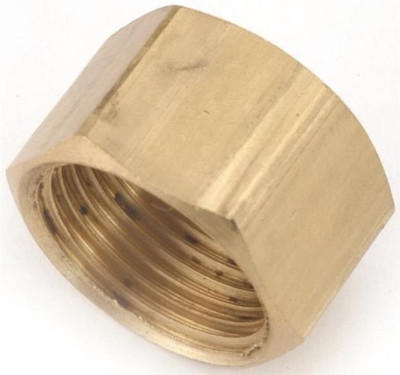 """Compression Fittings, 5/8"""", Cap, Brass"""