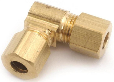 "Compression Fittings, 5/8"", Elbow 90 Deg, Brass"
