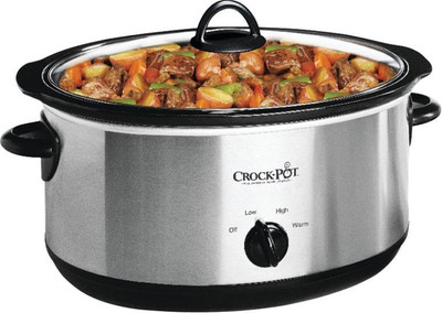 Crock-Pot, Slow Cooker, 7 Quart, Stainless Steel