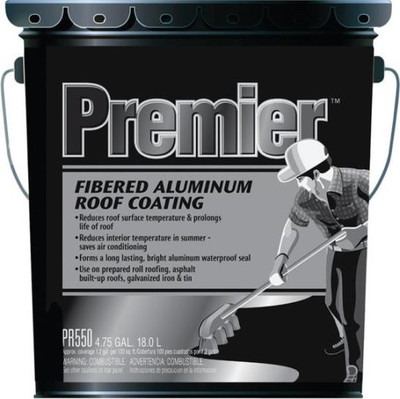 Henry, Roof Coating, Aluminum Fibered, 4.75 Gallon, Premier