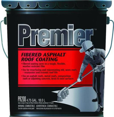 Henry, Roof Coating Black Fibered, 5 Gallon