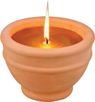 "Citronella Candle, Terracotta Bowel, 6"" Diameter"
