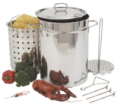 Turkey Fryer 32 Quart Stainless Steel With Basket