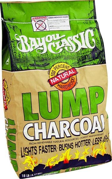 Bayou Classic, Lump Charcoal, 18 Lb Bag