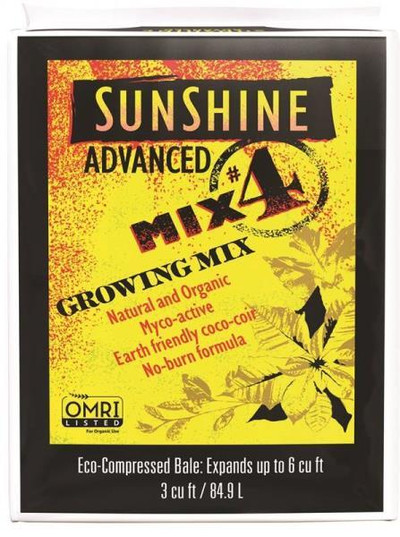 Sunshine Mix # 4, Organic,Growing Mix, 3 CuFt