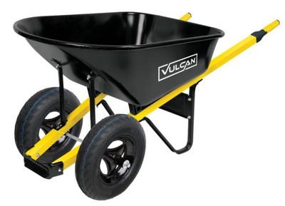 Wheelbarrow, 6 CuFt, Steel, 2 Wheel