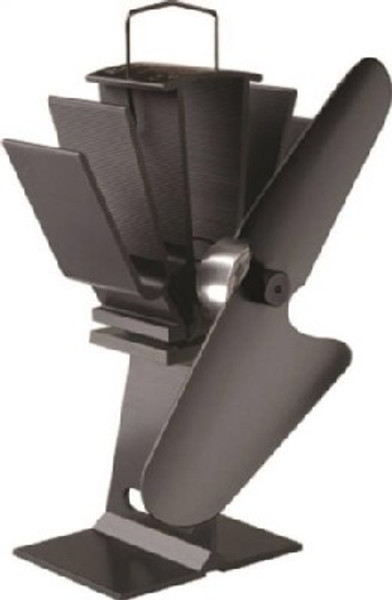 Ecofan 800CAXBX Heat Powered Stove Fan With Black Blade, 230 - 650 Deg F, 100 cfm