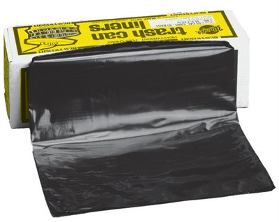 "Trash Bag, 55 Gallon, 3 Mil, Black, 30 Pack, 36"" x 56"""