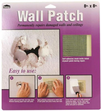 "Drywall Repair Patch, 8"" X 8"""