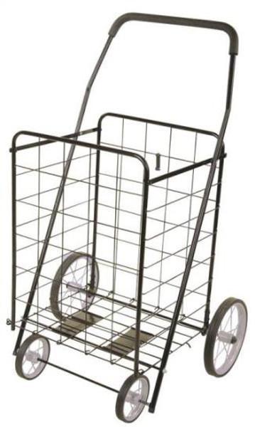 Shopping Cart, 150 Lb Capacity, Black