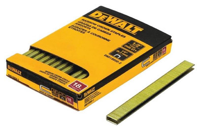 Dewalt, Narrow Crown Staple, 18 Ga, 1/2""
