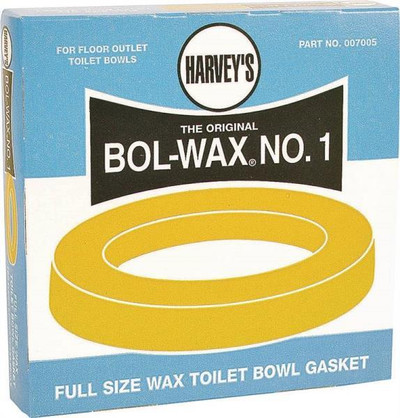 "Harvey's, ""BOL-WAX"" Toilet Bowl Wax Ring"