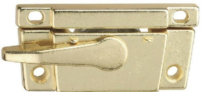 Sash Lock, Narrow, Zinc Die Cast, Bright Brass