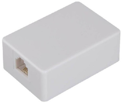 Telephone Surface Mount Jack, 4 Wire, White