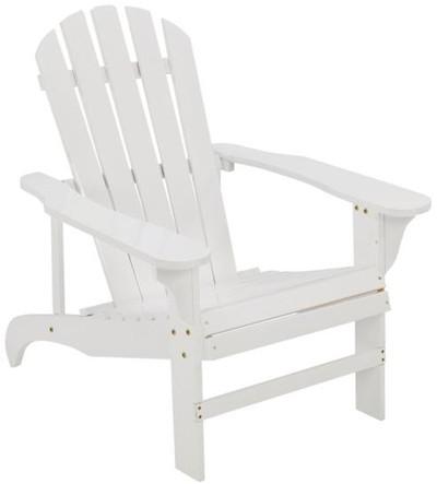 Adirondack Chair, White, Wood