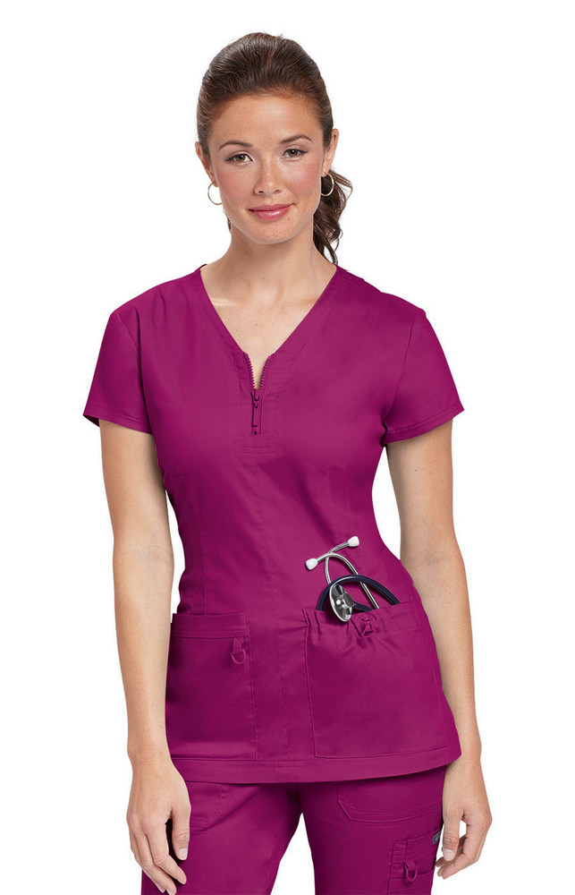 Koi Stretch Mackenzie Women's Solid Top (17 Color Options)