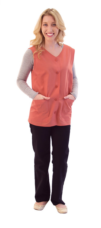 Fame K-76 Female Sleeveless Volunteer Smock (7 Color Options)