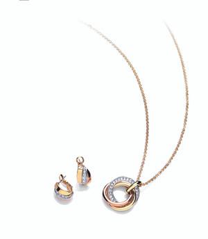 Russian Sparkle Pendant & Earring Set